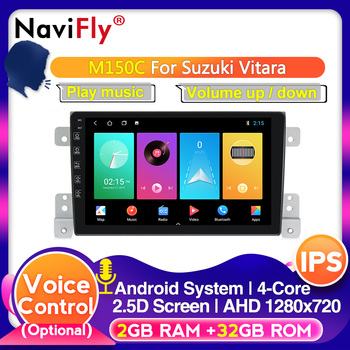 NaviFly 4+64 IPS DSP Android 10.0 Head Unit 4G Car Radio Multimedia Video Player Navigation GPS For Suzuki Grand 2006-2011vitara image