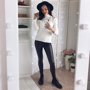 Women Thin Velvet PU Leather Pants 2019 New Female Elastic Stretch Faux Leather Skinny Pencil Pant Tight Trouser Autumn Winter 5