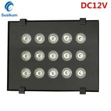 DC12v infrared 15 high power IR LED illuminator Infrared LED light CCTV Camera fill light 850nm array led 100M waterproof