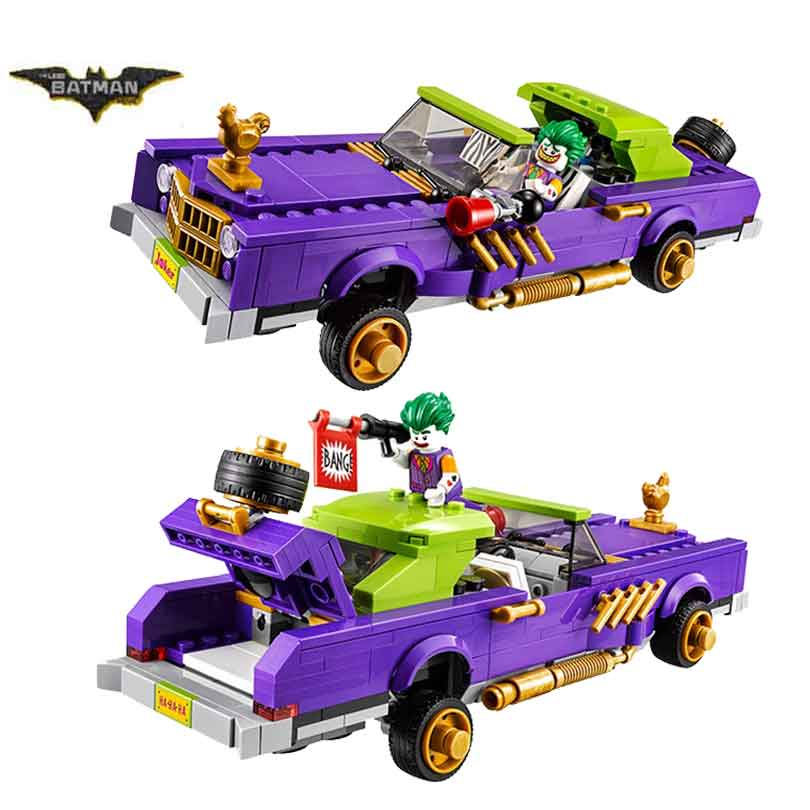 In Stock Legoinglys Movie 70906  Batman Film The Joker Notorious Lowrider Harley Quinn Building Block Toy Children Christmas Toy