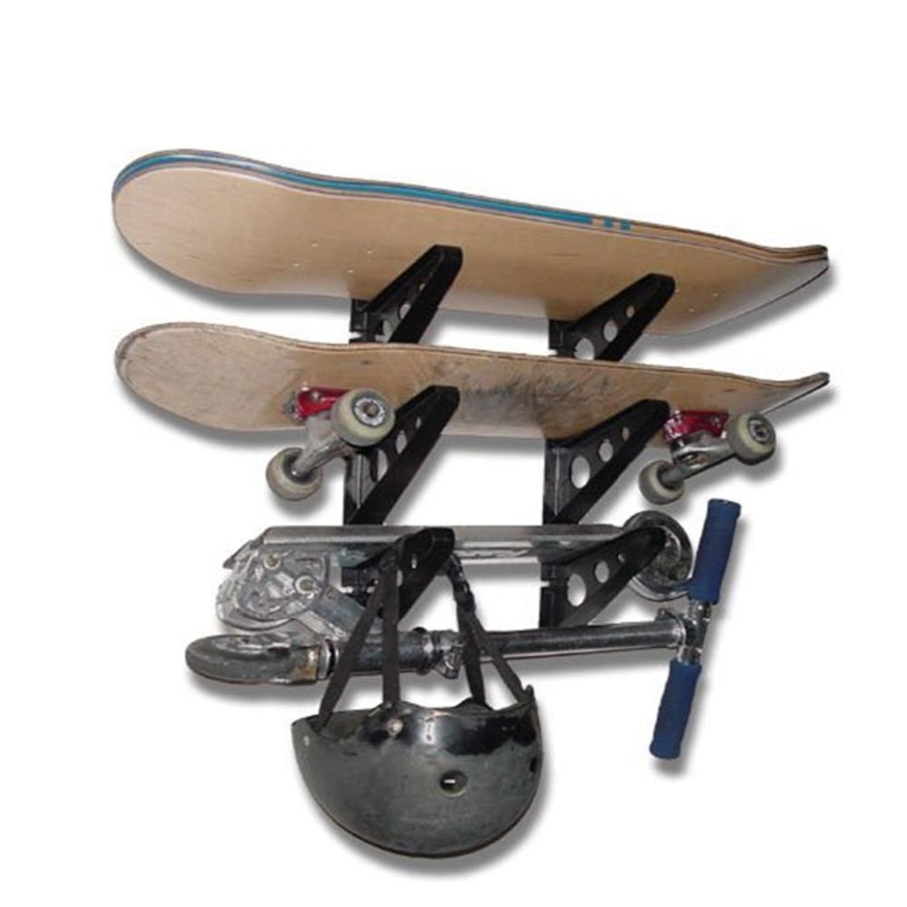 6PCS Skateboard Wall Rack Longboard Wall Mount Storage Rack Clip Hanger Wall Holder Skateboarding Display Tools