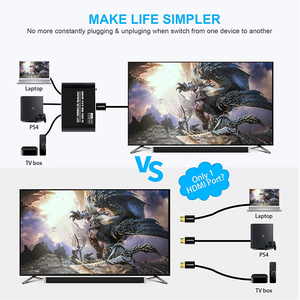 Image 3 - Navceker 4K 60Hz Mini 3 Port HDMI التبديل 2.0 4K الجلاد مقسم الوصلات البينية متعددة الوسائط وعالية الوضوح (HDMI) 1080P HDR 3 في 1 خارج ميناء المحور ل DVD HDTV Xbox PS3 PS4