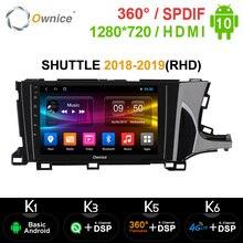 Ownice K3 K5 K6 2din 안드로이드 10.0 Octa 코어 GPS Navi 혼다 셔틀 2018 2019 4G LTE 360 파노라마 DSP SPDIF 자동차 라디오 플레이어