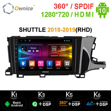 Ownice K3 K5 K6 2din Android 10.0 Octa Core Gps Navi Voor Honda Shuttle 2018 2019 4G Lte 360 panorama Dsp Spdif Autoradio Speler