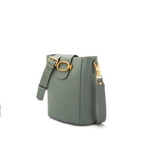 Image 2 - 2020 Sweet Style Candy Color Women Shoulder Bag Split Leather Crossbody Bag Fashion Designer Laides Messenger Bag for Girls