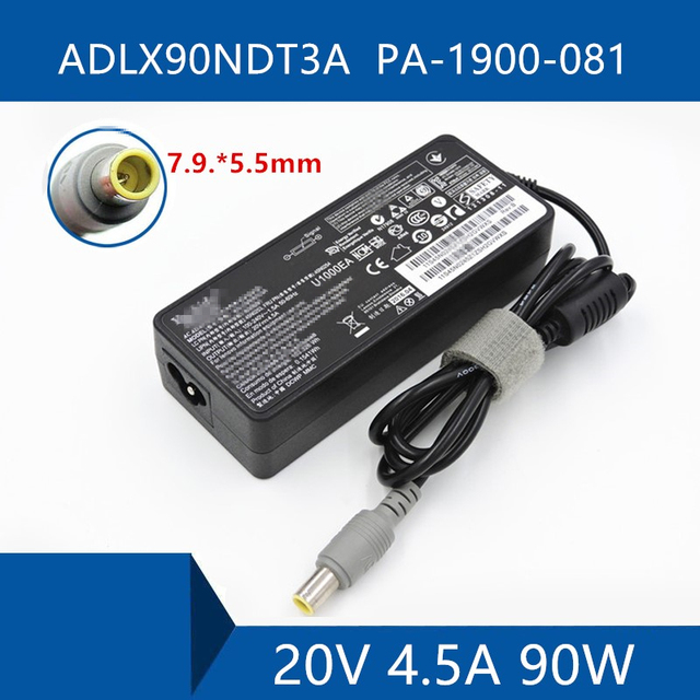 Laptop AC Adapter DC Charger Connector Port Cable For Lenovo ADLX90NDT3A PA 1900 081 20V 4.5A 90W