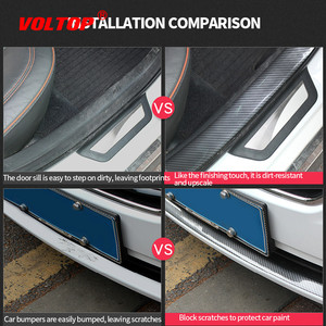 Image 3 - 3/5/7/10cm Car Stickers 5D Carbon Fiber Rubber Styling Door Sill Protector Goods for KIA Toyota BMW Audi Mazda Ford Hyundai