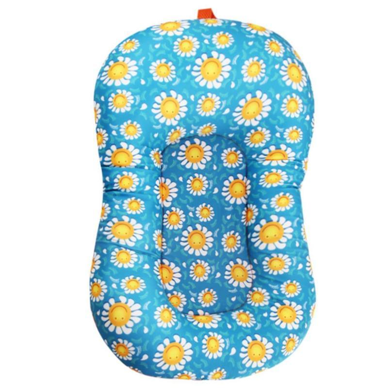 Плавающий коврик для ванной для новорожденных, детская ванночка, коврик для душа, переносная воздушная подушка для новорожденных, безопасное сиденье для купания - Цвет: D