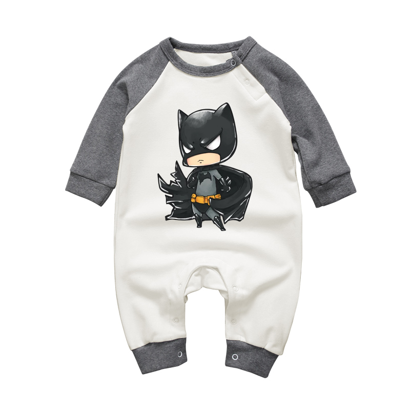 Baby Boy Batman Jumpsuit Infant Toddler Newborn Romper Outfit Long Sleeve Cotton