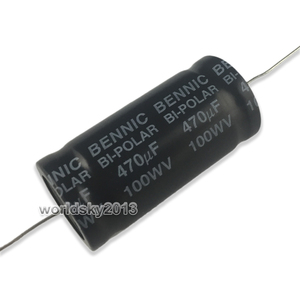 Image 2 - 2pcs 150uF 680uF 100V Speaker Frequency Divider Amplifier Crossover Loudspeakers Filter Circuit Bi Polar Non Polarity Capacitor