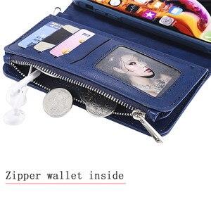 Image 5 - Magnetische Leather Case Voor Iphone Xr Xs 12 11 Pro Max X Se 2020 8 7 6 6S Plus 5 Wallet Card Cover Voor Samsung S20 S10 S9 S8 Gevallen