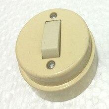 Flat switch round surface mounted single open switch round old style flat switch flat