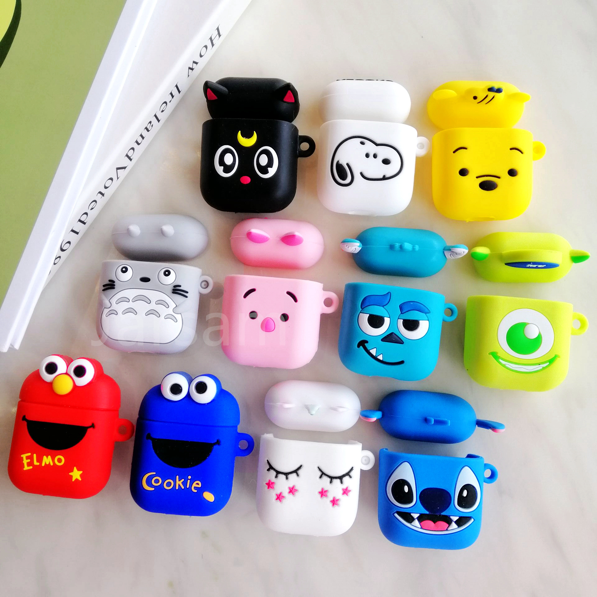 Cute Wireless Earphone Case For Apple AirPods  Silicone Charging Headphones Case For Airpods Protective Cover