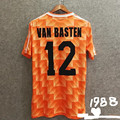 Винтажная Футболка gullit #10 1988 van basten #12 CRUYFF
