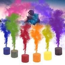 1, 6 штук в партии, Цвет дым таблетки Хэллоуин реквизит сгорания смога торт эффект дыма бомба таблетки Портативный Опора 2,2x2,5 см JL29