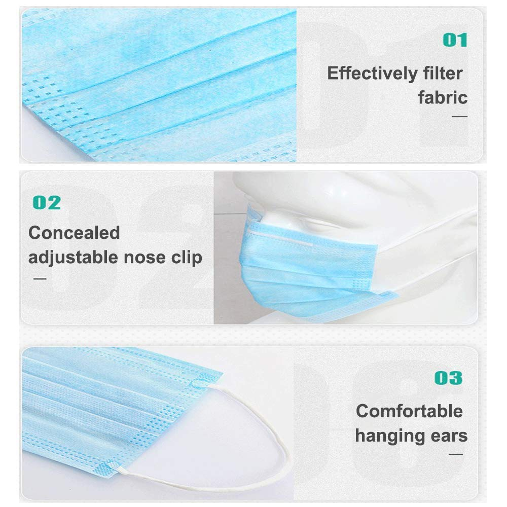 Disposable Face Masks Disposable Surgical Mask Dust Breathable Earloop Antiviral Face Mask Comfortable Non-Woven Masks 1
