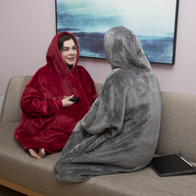 Oversized Hoodie Oversize Winter Fleece Blanket With Sleeves Sweatshirts Plaid Adult Giant Bluza Woman Damska Sudadera Mujer
