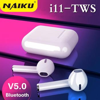 I11 TWS Bluetooth 5 0 słuchawki i9S podwójne połączenia inteligentne dotykowe słuchawki do iphone #8217 a Pk I7s i8 I10 i100 słuchawki douszne tanie i dobre opinie NAIKU Dynamiczny wireless Zaczep na ucho 96±3dBdB Nonem Dla Telefonu komórkowego Słuchawki HiFi Sport Wspólna Słuchawkowe