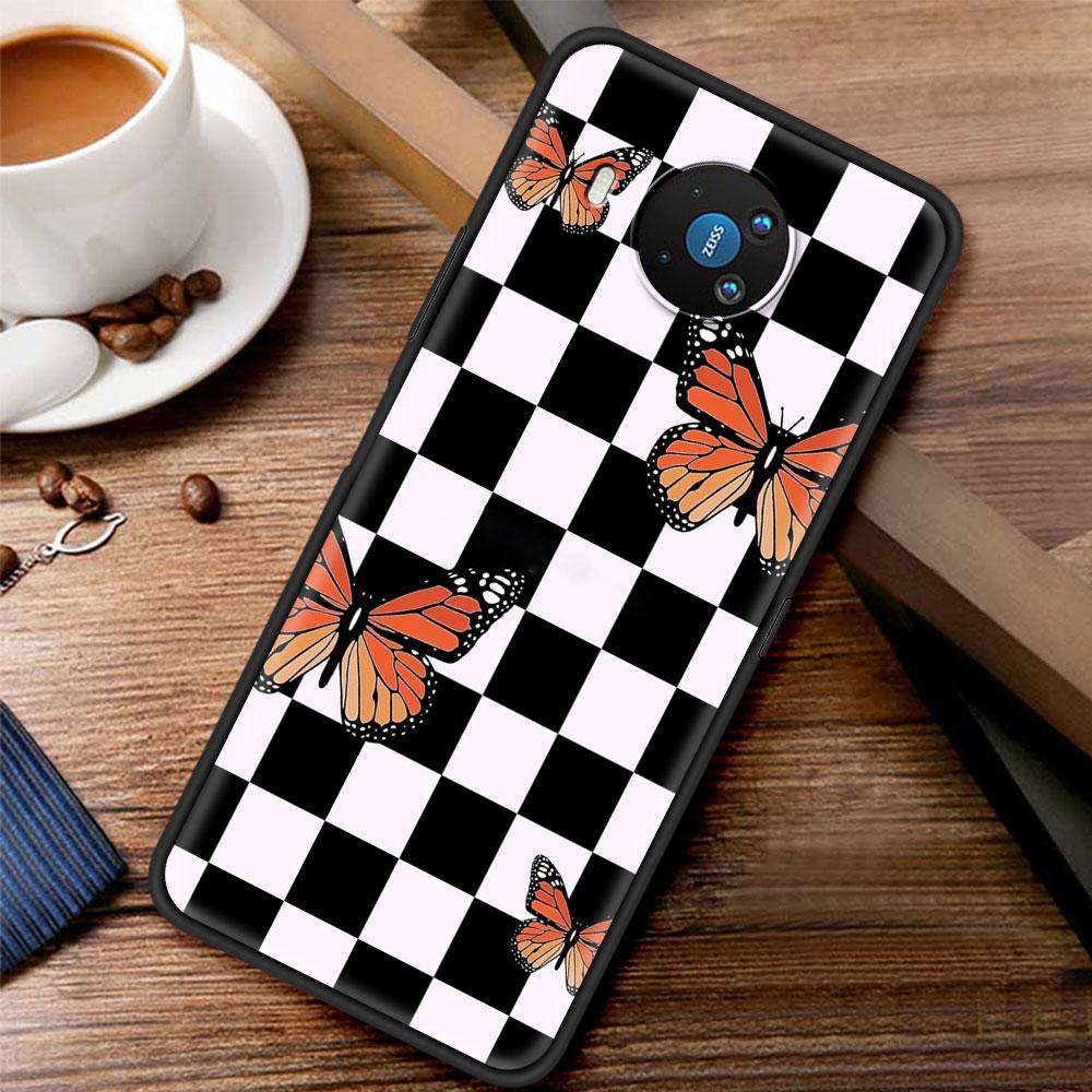 Checkerboard Checkered Silicone Case Funda For Nokia 2.2 2.3 3.2 4.2 7.2 1.3 5.3 8.3 5G 2.4 3.4 C3 C2 Tenen 1.4 5.4