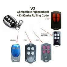V2 Gate Remote PHOX 2, 4 Rolling Code 433.92mhz Control Clone  rolling code