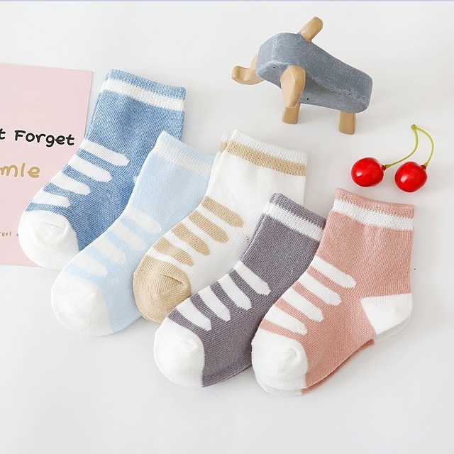 Durable Striped Socks 6