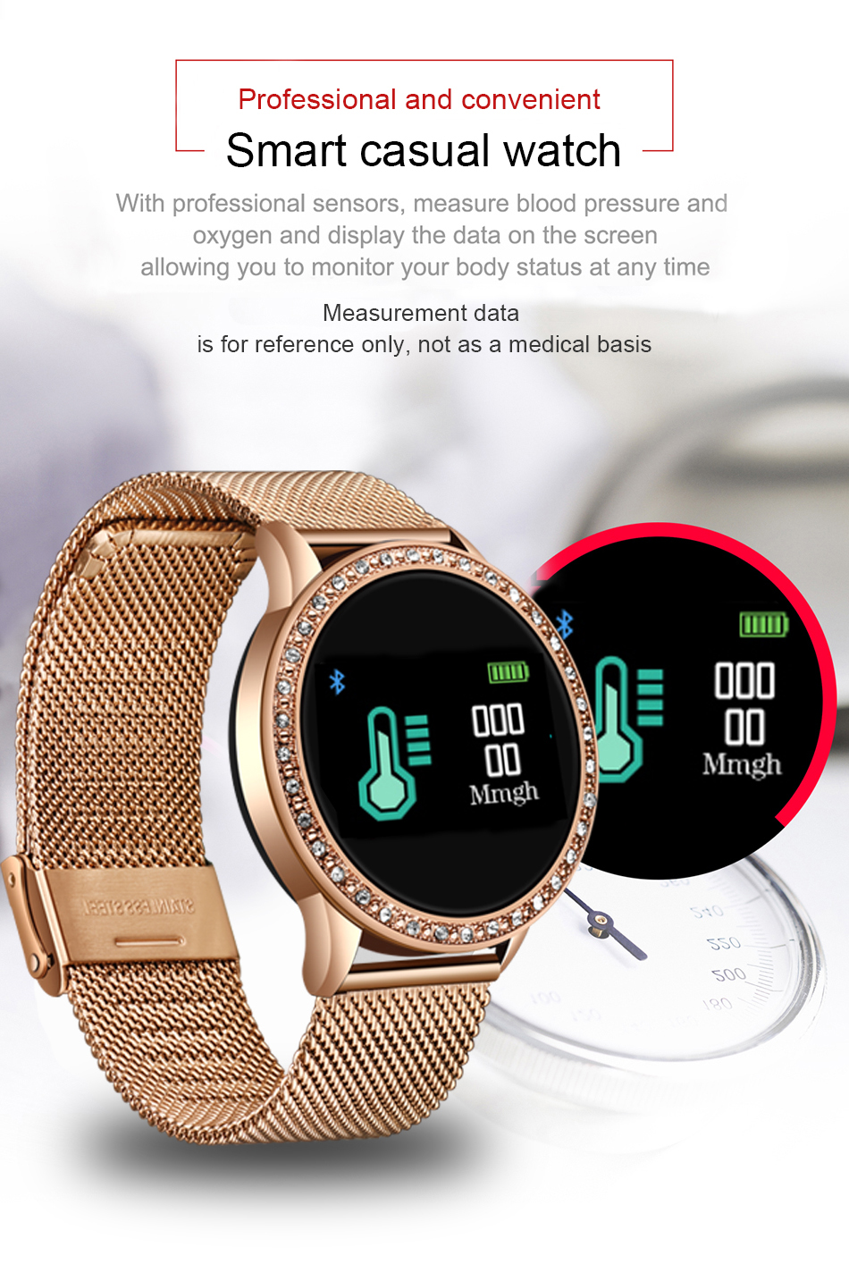 H41c7de2aa2c6411393e78d55396f29302 LIGE 2020 New Smart Watch Women Men Heart Rate Blood Pressure Sport Multi-function Watch fitness tracker Fashion smartwatch+Box