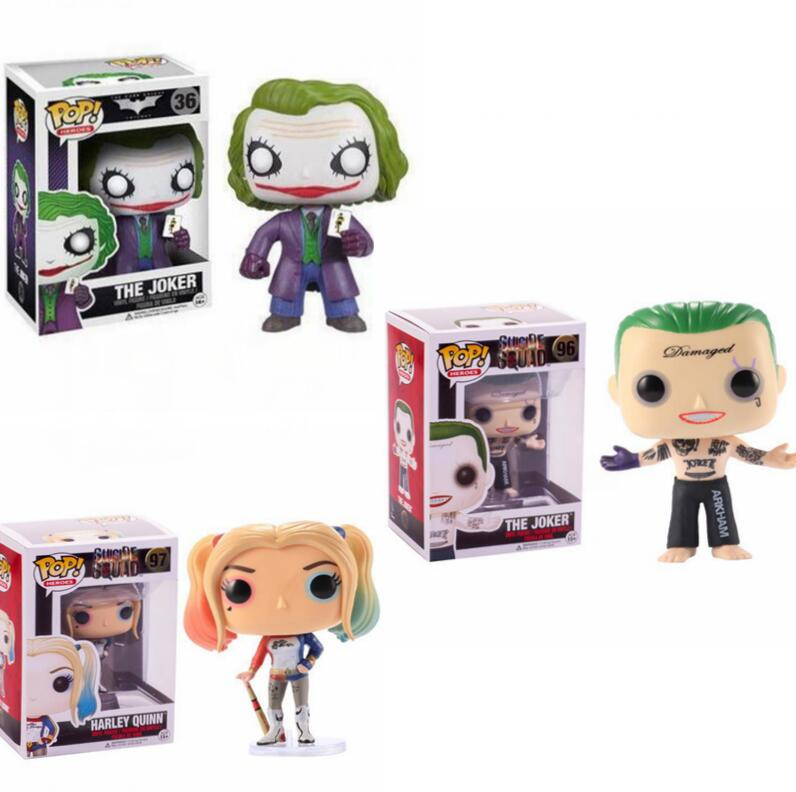 Funko Pop Suicide Squad Harley Quinn Joker Vinyl Action Figure Collectible Model Toys For Children Birthday Gift