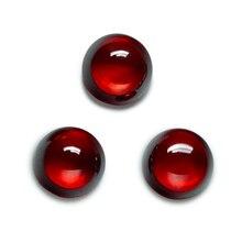 Tamanho 4.0 12 12mm corte redondo granada cabochon cz pedra sintética zircónio cúbico