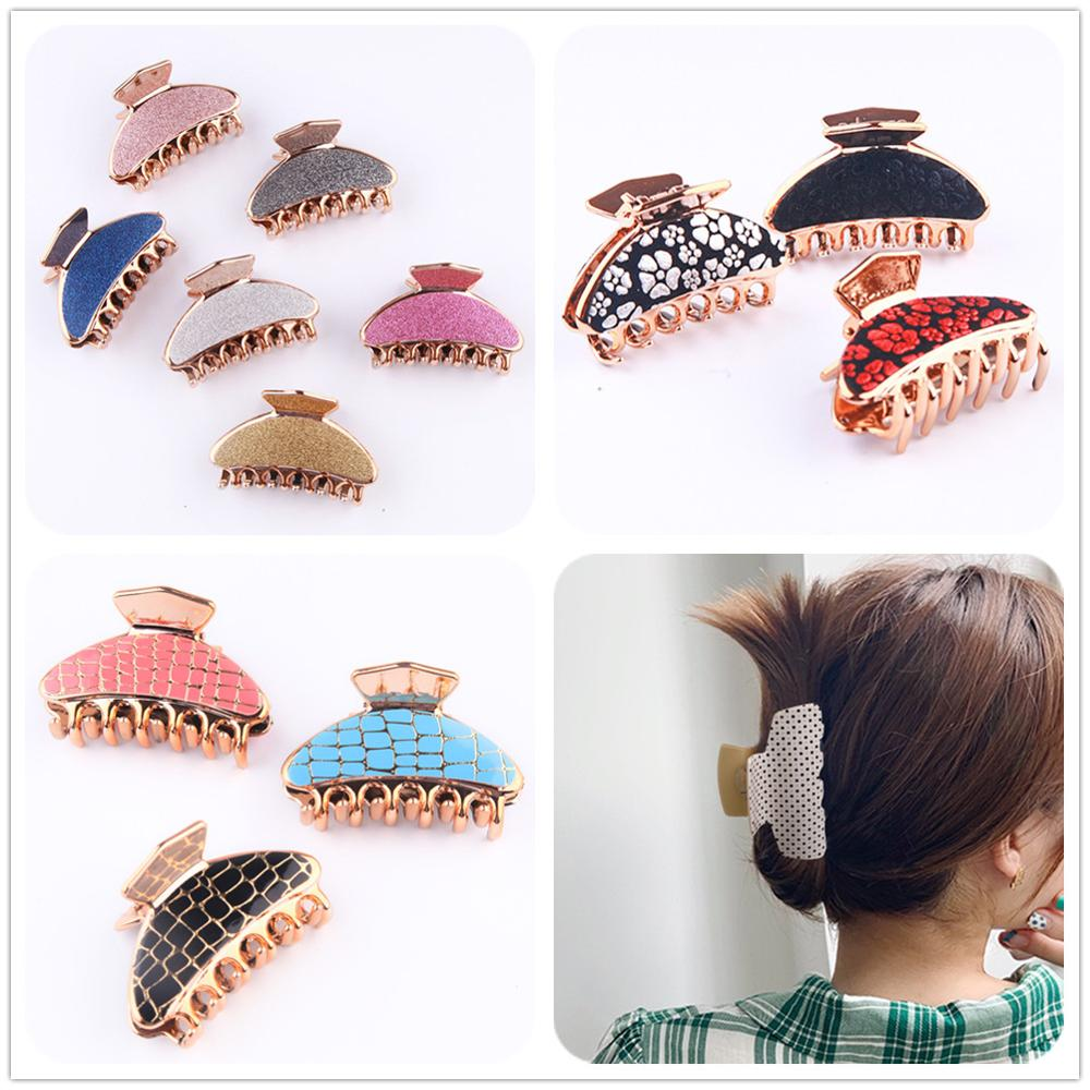 Fashion Simple Gripper Horsetail Clip Hairpin Women Girls Hair Claw Clip Barrette Hairclip Accessories Ponytail Holder Headdress