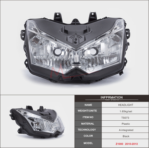 Image 2 - Motoo   The motorcycle head light lamp assembly for Kawasaki Z1000 2010 2011 2012 2013 lighthouse frontlight