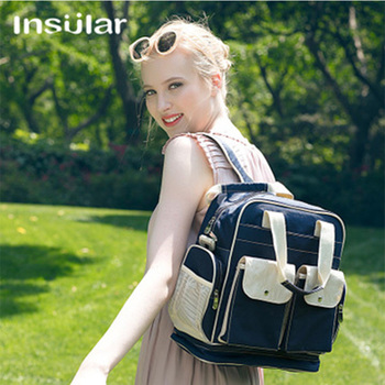 Insular Mummy Maternity Baby Nappy Stroller Bag Large Capacity Diaper Travel Backpack Nursing Bag Baby Care Women's Changing Bag baby diaper bag mummy maternity backpack changing nappy bag large capacity multifunction outdoor travel bag for baby care