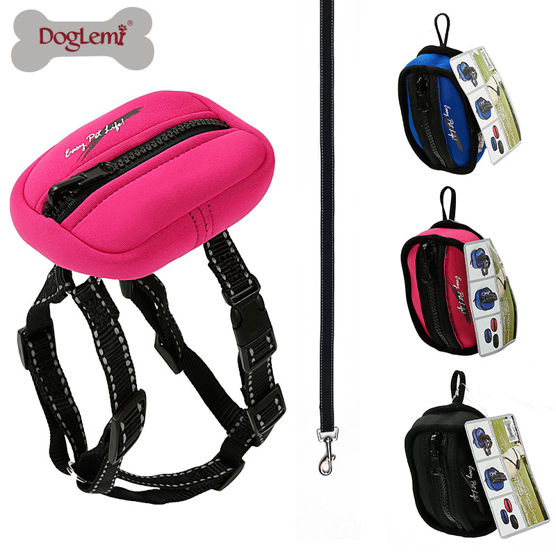 Product Reflective Nylon Dog Collar Foldable Storage Xiong Bei Tao Drawstring Big Dog Pet Traction