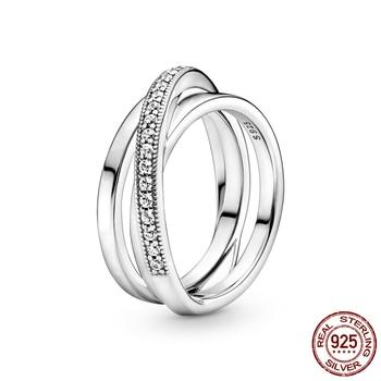 Women Wedding Party Fashion Ring Jewelry 925 Silver Jewelry