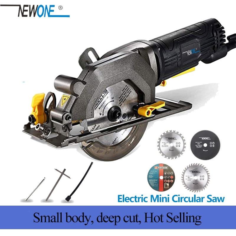 NEWONE Electric Mini Circular Saw With Laser Multifunctional Electric Saw DIY Power Tool For Cut Wood,PVC tube