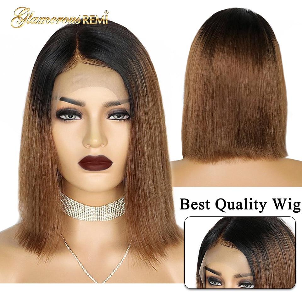 1b 30 lace front human hair wigs bob wig (1)