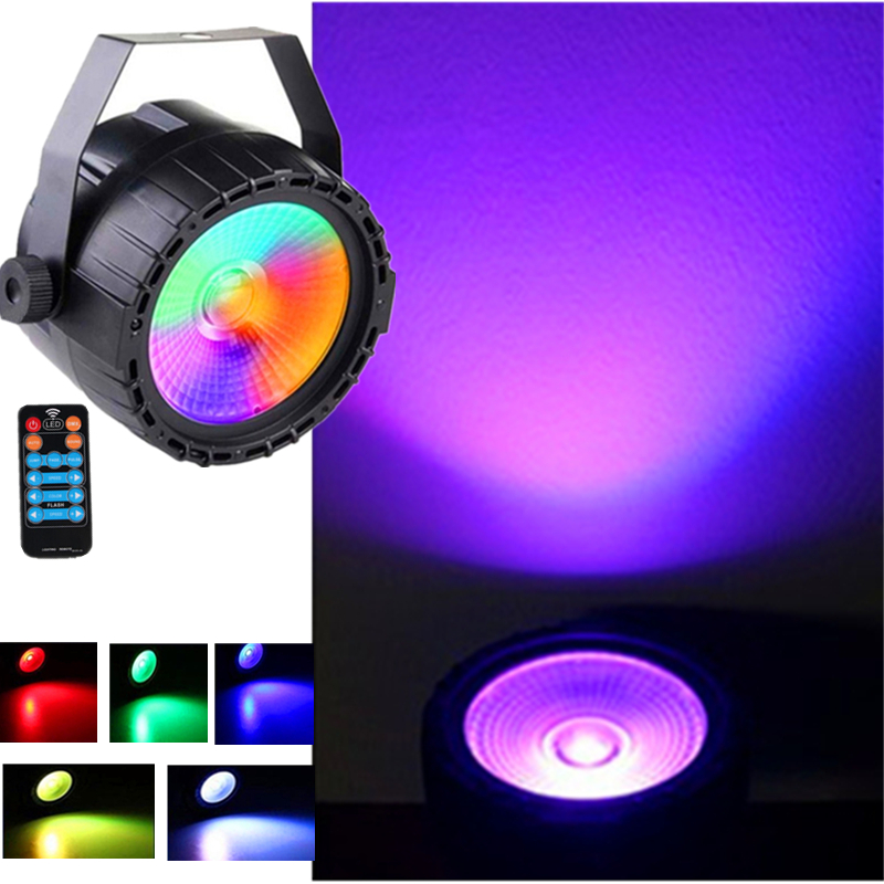 Niugul High Brightness Wireless Control RGB+UV Effect 30W LED COB Par Light DMX512 Stage Lighting Good For DJ Disco Home Party