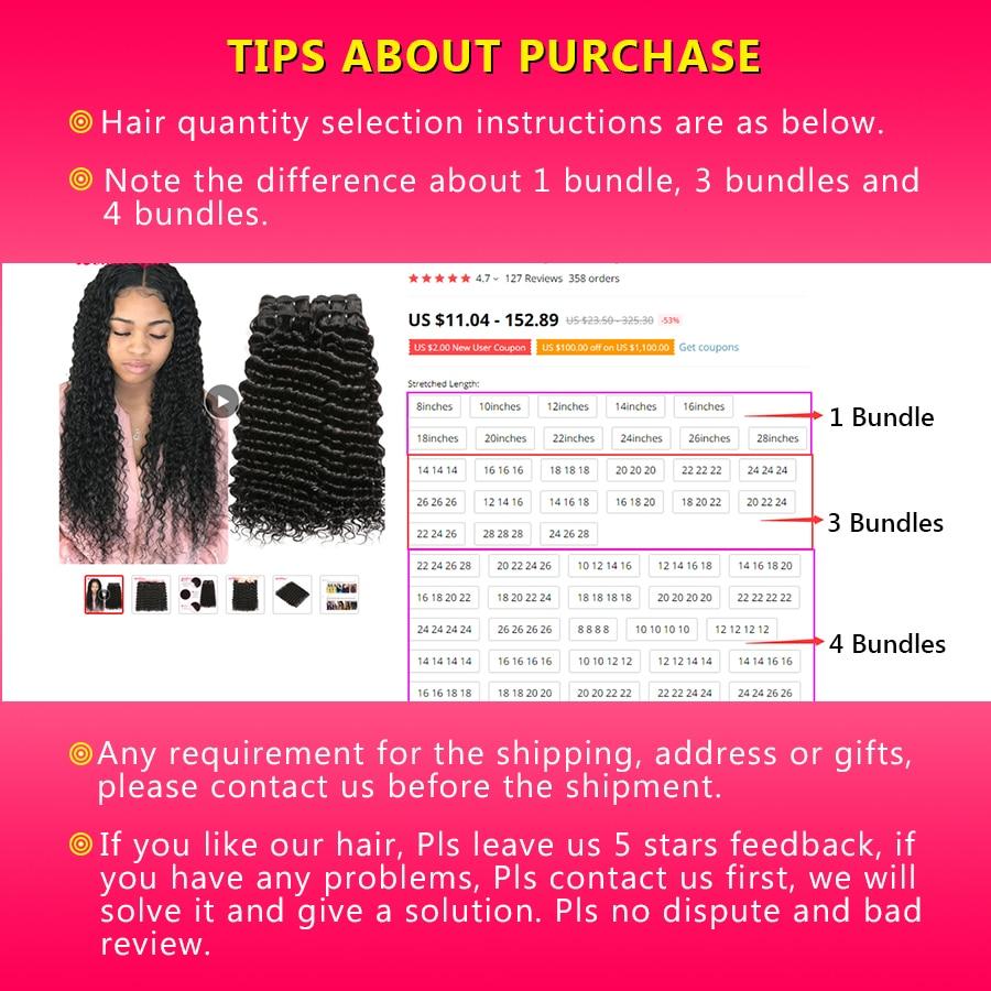 Image 5 - 28 30 Inch Bundles Deep Wave 4 Bundles Deal Peruvian Hair Bundles Wonder girl Remy Hair Extensions Human Hair Bundles No Shed-in Hair Weaves from Hair Extensions & Wigs
