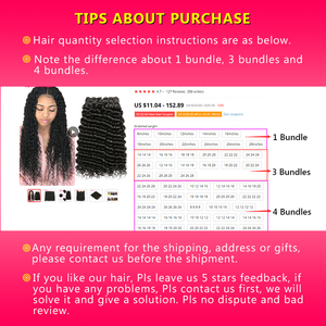 Image 5 - Human Hair Bundles Deep Wave Bundles Deal 28 30 Inch Bundles Peruvian Hair Bundles Wonder girl Remy Hair Extensions Human Hair