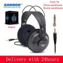 SAMSON SR950 Professional Studio Reference Monitor Headphone Dynamic Headset Closed Ear Design for Recording Monitoring Game DJ