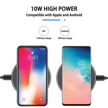 Qi Metal 10W Wireless Charger For iPhone 8 X XR XS Max QC3.0 Fast Wireless Charging for Samsung S10 S9 Note 8 9 USB Charger Pad 10w fast wireless charger for samsung galaxy s10 s9 s9 s8 note 10 usb qi charging pad for iphone x xs 8 xiaomi