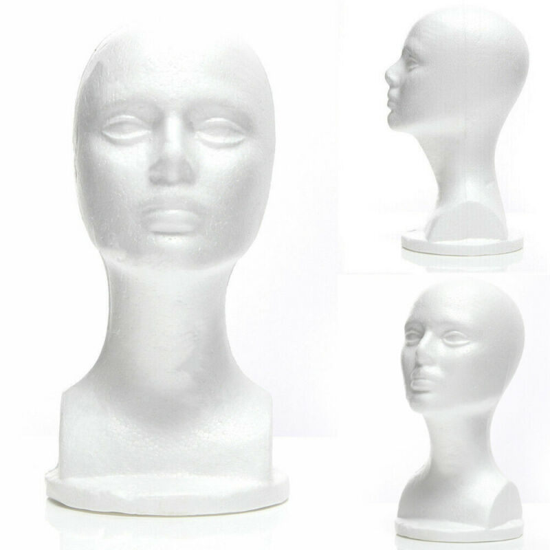 Female Styrofoam Foam Mannequin Mannequin Head Model Hat Glasses Foam Display Mannequin Head Model Wig Hat Rack Display Stand