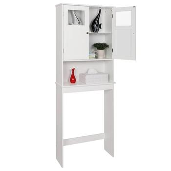 Double Doors Bathroom Cabinet White Waterproof and moisture-proof  Chrome handle High quality Easy to assemble