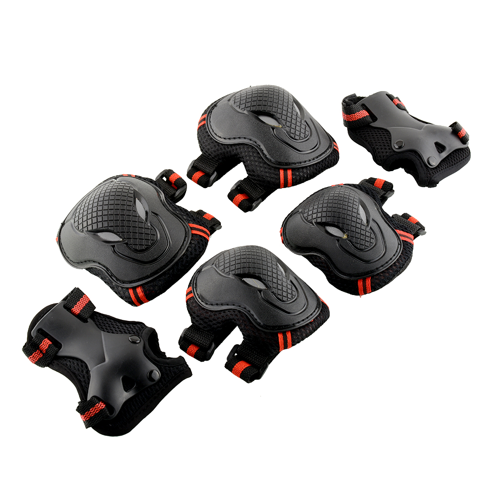 6pcs/set Skating Protective Gear Set Elbow Pads Bicycle Skateboard Ice Skate Roller Knee Protector For Adult Skateboard Gear