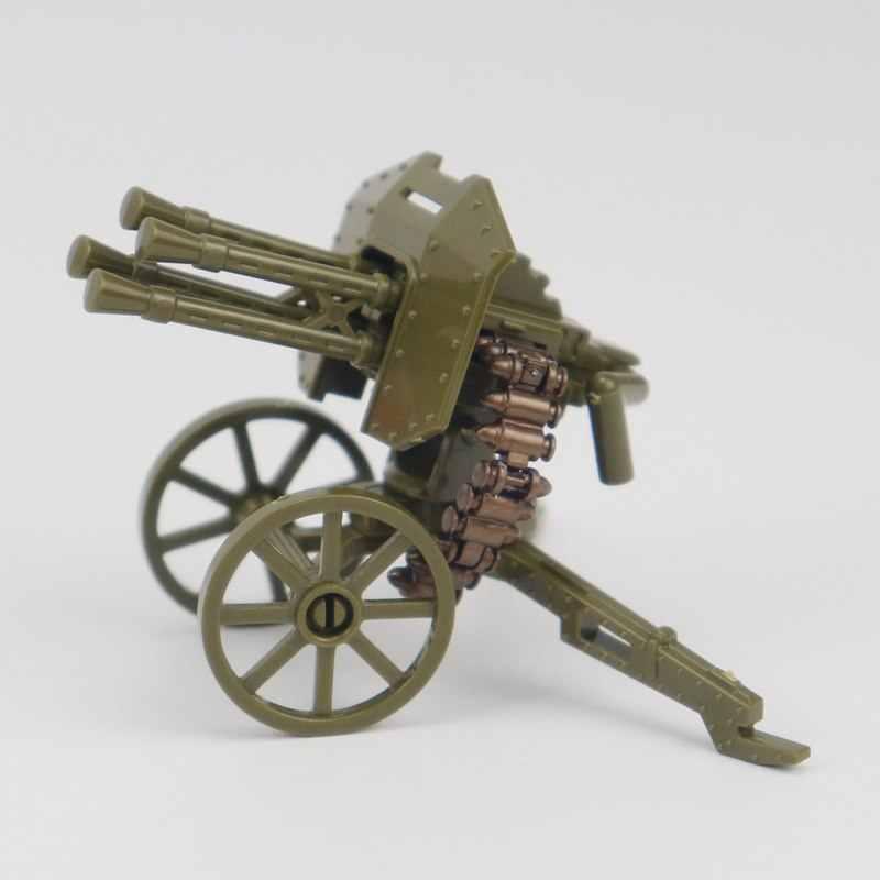 Creatorทหารชุดของเล่น & งานอดิเรกของขวัญของเล่นเด็กMPJ205อาคารบล็อกเครื่องปืนสีดำรุ่นWW2ผู้สร้างทหาร