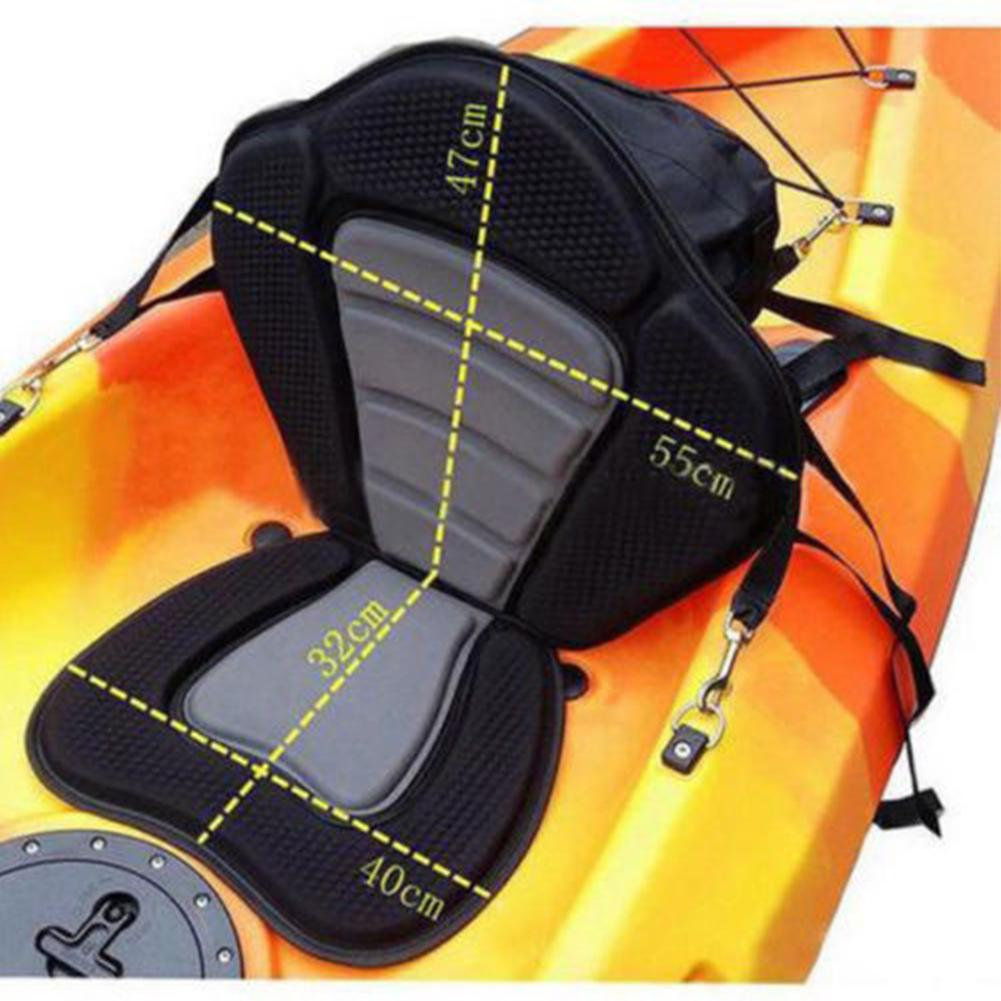 HiMISS siège de Kayak rembourré réglable avec sac de rangement dossier de canoë coussin à la dérive siège de Kayak néoprène 600D polyester
