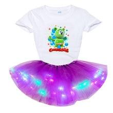Комплект одежды для девочек комплект принцессы модное светодиодное