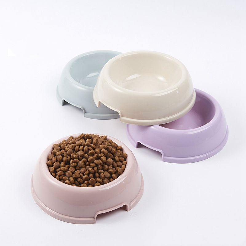 4 Colors Excellent Quality Dog Bowl Plastic Travel Cat Dog Bowls Feeding Feeder Water Bowl For Pet Dog Cat Puppy Food Bowl