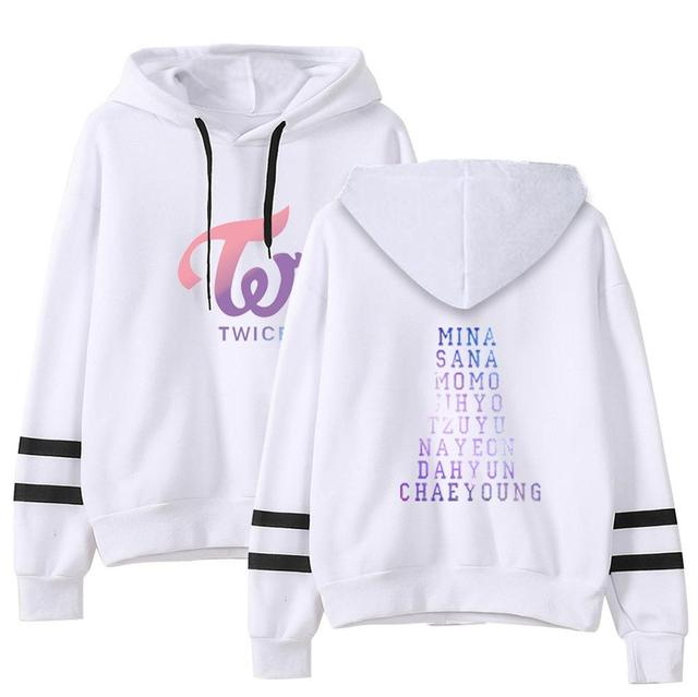 TWICE THEMED STRIPED HOODIE (10 VARIAN)
