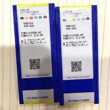 10PCS TCMT110208-HF YBD102 CNC Machine Cutting Tool TCMT 110208 Turning Milling 100% Original Blade