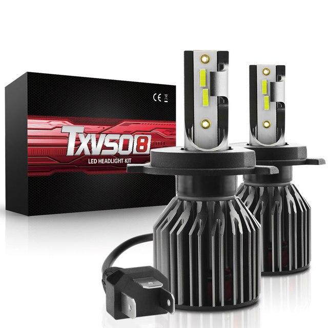 TXVSO8 6000K H4 CSP Turbo Light  Mini H7 Car Headlights Bulb LED 9006/HB4 9005/ HB3 H1 H8 H9 H11 Automotive LED Lamps 10000LM